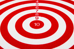 Red dart target Stock Photos