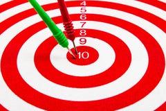 Red dart target Stock Photo