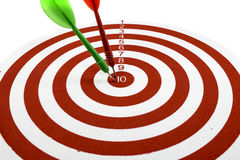 Red dart target Stock Photo