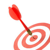 Red dart on target Stock Images