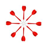 Red Darts Stock Images