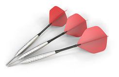 Red darts. Royalty Free Stock Image