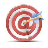 Red darts target aim and arrow Stock Photo