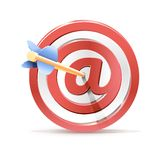 Red darts target aim and arrow. Royalty Free Stock Photos