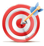Red darts target aim and arrow. Stock Images