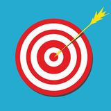 Red darts target aim Royalty Free Stock Images