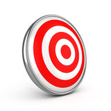 Red darts target aim. On white background Stock Photography