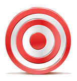 Red darts target aim on white background Stock Image