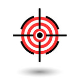 Red darts target aim on white background Stock Photography