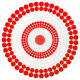Red darts target - vector aim illustration Stock Photography