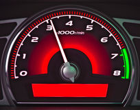 Red dashboard Royalty Free Stock Photography