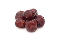 Red date - sugar preserved fruit Stock Photos