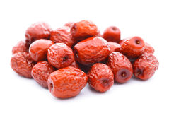 Red date on white Royalty Free Stock Photos