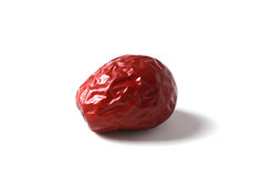 Red date on white Royalty Free Stock Photo