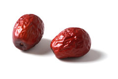 Red date on white Stock Image