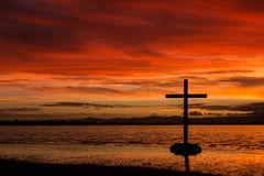 Red Dawn Cross Stock Image