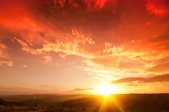 Red dawn dusk Royalty Free Stock Photos