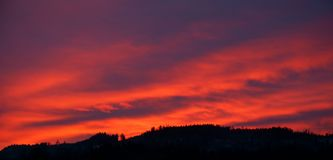 Red Dawn in Germany stock photo