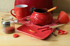 Red day on kitchen Stock Image