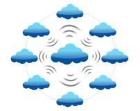 Red de computación de la nube Fotografía de archivo libre de regalías
