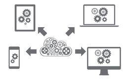 Red de computación de la nube Imágenes de archivo libres de regalías