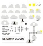 Red de computación de la nube del vector Imagen de archivo libre de regalías