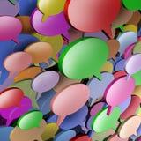 Red de comunicaciones social stock de ilustración