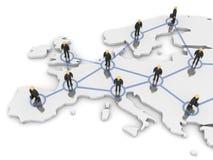 Red de Europa Ilustración del Vector