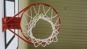 Red de la bola de la cesta Fotos de archivo libres de regalías