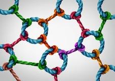 Red de la conexión del web Foto de archivo