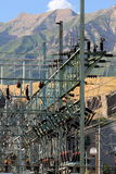 Red de la corriente eléctrica Fotografía de archivo libre de regalías
