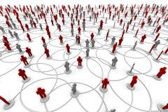 Red de la gente stock de ilustración