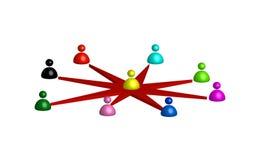 Red de la gente Imagen de archivo libre de regalías