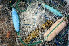 Red de la industria pesquera, usada Imagen de archivo libre de regalías