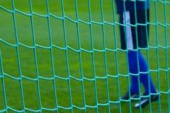 Red de la meta con el goalkeaper. Imagen de archivo libre de regalías