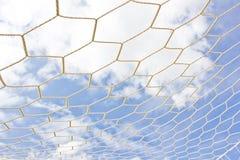 Red de la meta del fútbol Imagenes de archivo