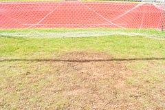 Red de la meta del fútbol Fotografía de archivo