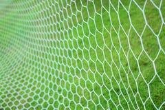 Red de la meta del fútbol Foto de archivo libre de regalías