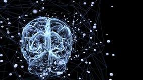Red de la neurona ilustración del vector