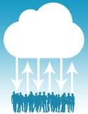 Red de la nube stock de ilustración