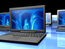 Red de las computadoras portátiles Fotografía de archivo