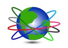 Red de las conexiones en todo el mundo stock de ilustración