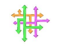 Red de las flechas y de muchas flechas - muchas maneras Foto de archivo libre de regalías