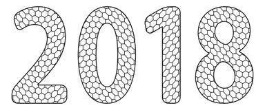 Red de las letras 2018 ilustración del vector