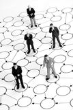 Red de los hombres de negocios Imagen de archivo libre de regalías