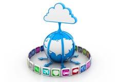 Red de los medios de la nube Imagen de archivo libre de regalías