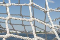 Red de los nudos de las cuerdas Foto de archivo libre de regalías