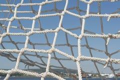Red de los nudos de las cuerdas Fotografía de archivo libre de regalías