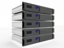 Red de los ordenadores de servidor stock de ilustración