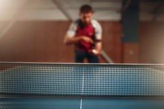 Red de los tenis de mesa, foco selectivo Imagen de archivo